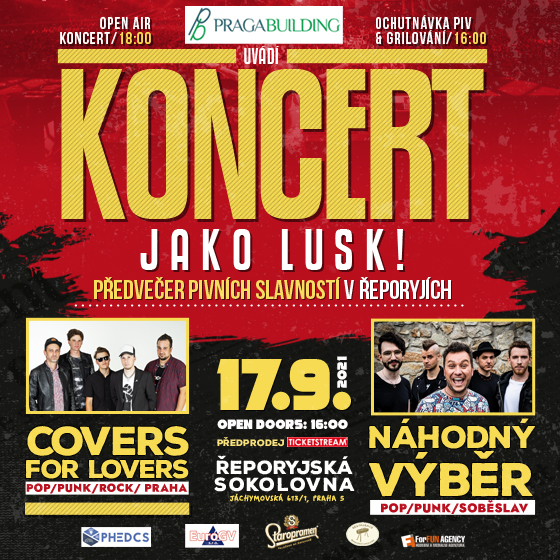 Koncert jako lusk!<br>Covers for Lovers<br>Náhodný Výběr
