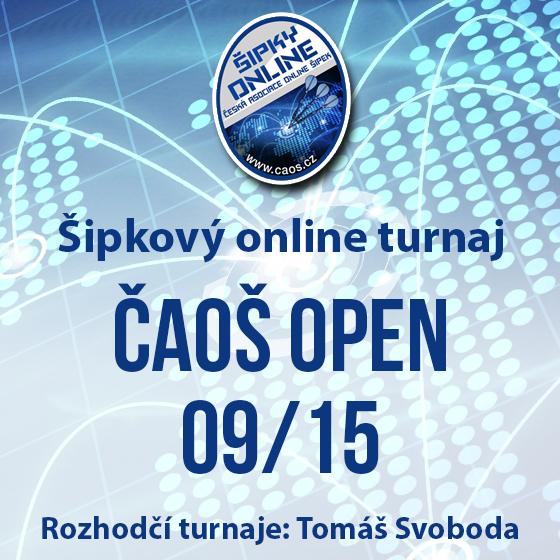 Šipkový turnaj - ČAOŠ OPEN 09/15