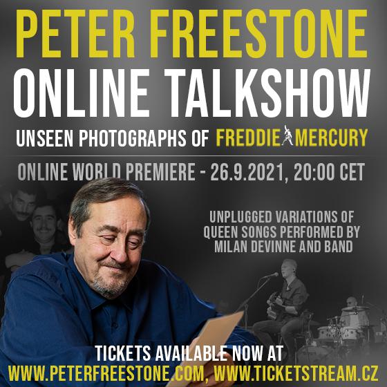 Peter Freestone - Online Talkshow<br>nezveřejněné fotografie Freddie Mercuryho