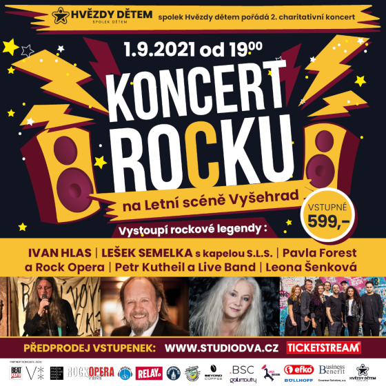 Charitativní koncert Hvězdy dětem<br>Nejlepší koncert rocku 2021