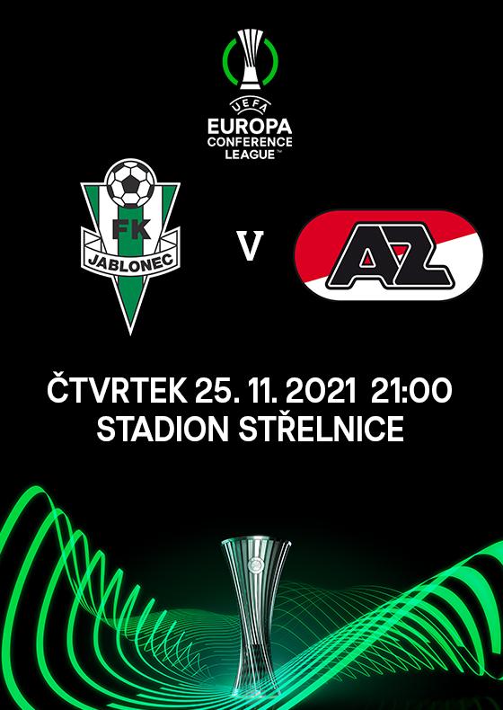 FK Jablonec<br>vs. AZ Alkmaar<br>Evropská konferenční liga UEFA