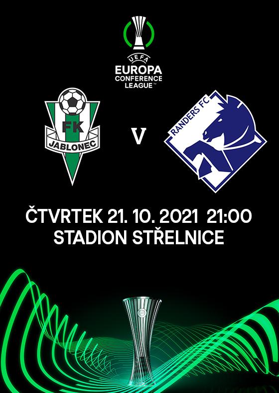 FK Jablonec<br>vs. Randers FC<br>Evropská konferenční liga UEFA