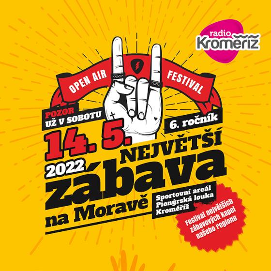 Festival Radia Kroměříž<br>Největší zábava na Moravě<br>5. ročník Open Air festivalu