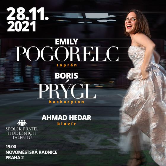 Emily Pogorelc a Boris Prýgl<br>Ahmad Hedar - klavír