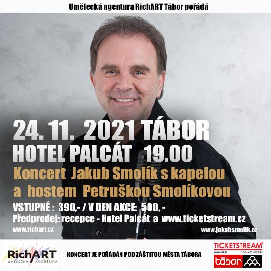Jakub Smolík<br>Koncert s kapelou<br>Host: Petruška Smolíková