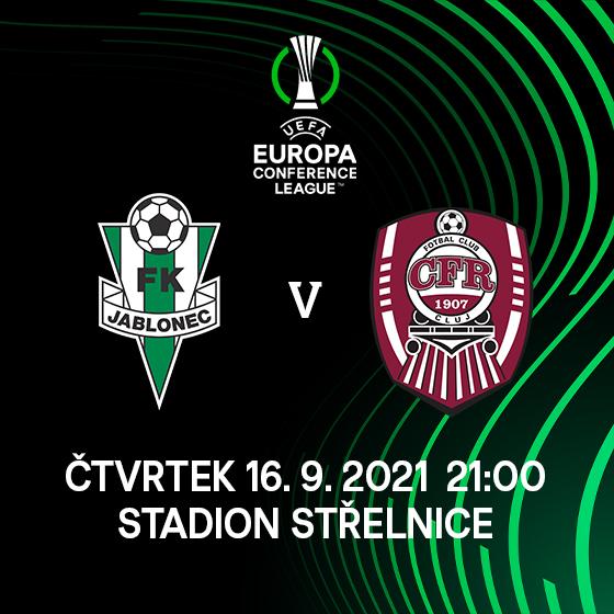 FK Jablonec<br>vs. CFR 1907 Cluj<br>Evropská konferenční liga UEFA