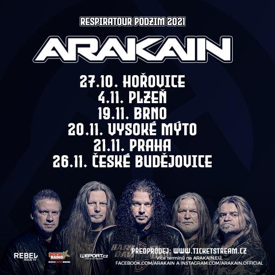 Arakain<br>Respiratour podzim 2021<br>Hosté: Booters, Jerem´I