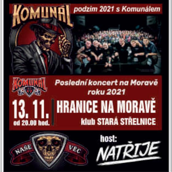 Komunál<br>Podzimní tour 2021<br>Host: Natřije
