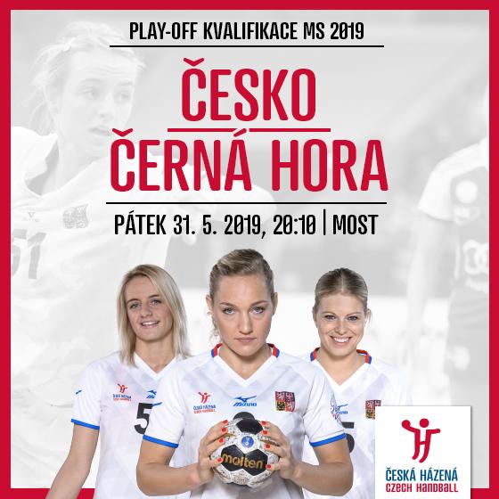 Česká republika - Černá Hora<BR>Play-off kvalifikace MS 2019<BR>Házená - ženy