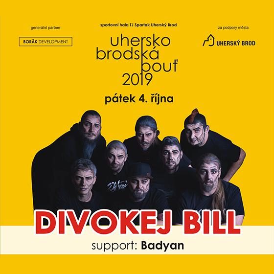 Uherskobrodská pouť 2019<br>DIVOKEJ BILL<br>support: Badyan