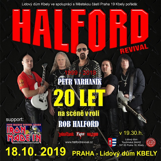 Halford Revival<br>Support: Iron Maiden Revival Praha