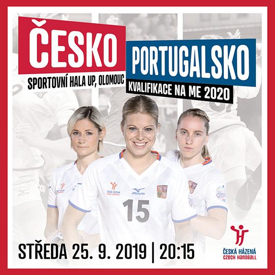 Házená - ženy<BR>Česká republika - Portugalsko<BR>Kvalifikace mistrovství Evropy