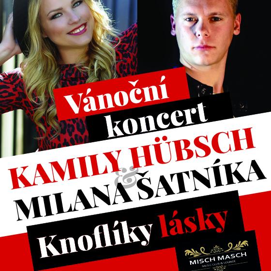 Vánoční koncert<br> Kamily Hübsch a Milana Šatníka<br> Knoflíky lásky