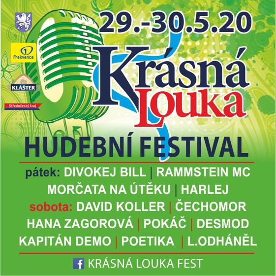 Festival Krásná Louka 2020<br>Divokej Bill, David Koller, Pokáč, Čechomor, Kapitán Demo, Hana Zagorová