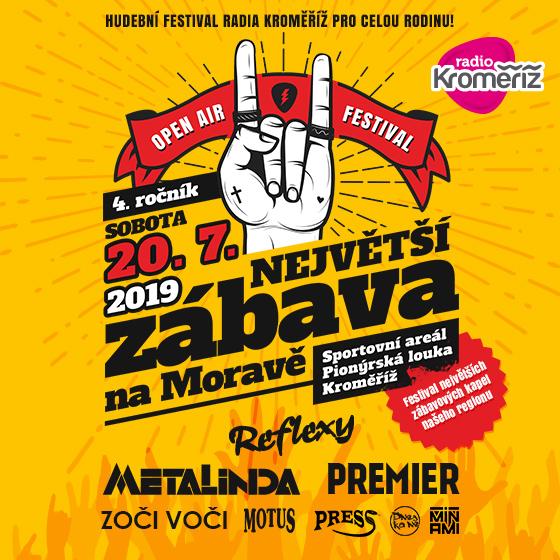 Festival Radia Kroměříž<BR>Největší zábava na Moravě<BR>3. ročník Open Air festivalu