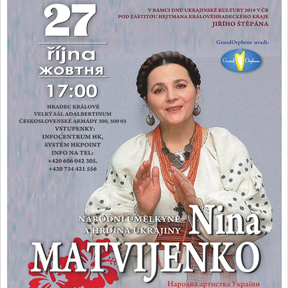 Nina Matvijenko<br>Národní umělkyně a Hrdina Ukrajiny