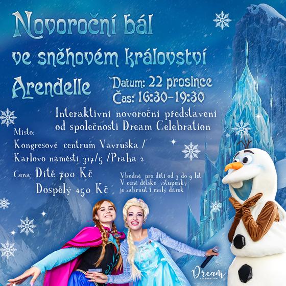 Novoroční bál ve sněhovém království Arendelle<BR>Interaktivní novoroční představení