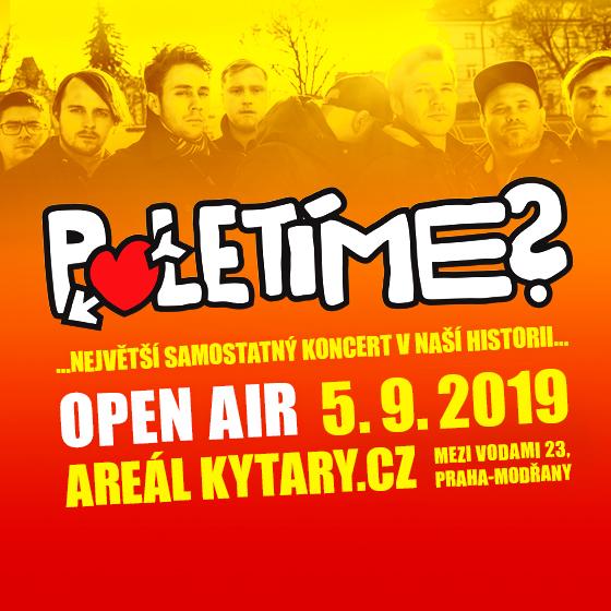 Poletíme?<br>v Areálu Kytary.cz OPEN AIR<br>náš největší samostatný koncert v historii