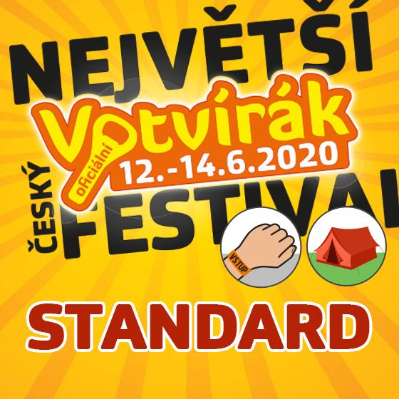 Festival Votvírák 2020<br>Nejv&#283;tší hudební festival<br><b><font color=red>Klubová karta standard</font></b>