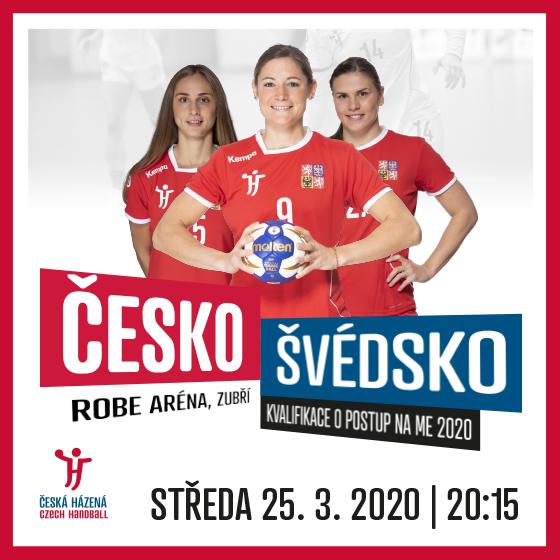 Házená - ženy<br>Česká republika - Švédsko<br>Kvalifikace mistrovství Evropy