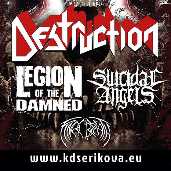 Destruction, Legion of the Damned, Suicidal Angels, Final Breath
