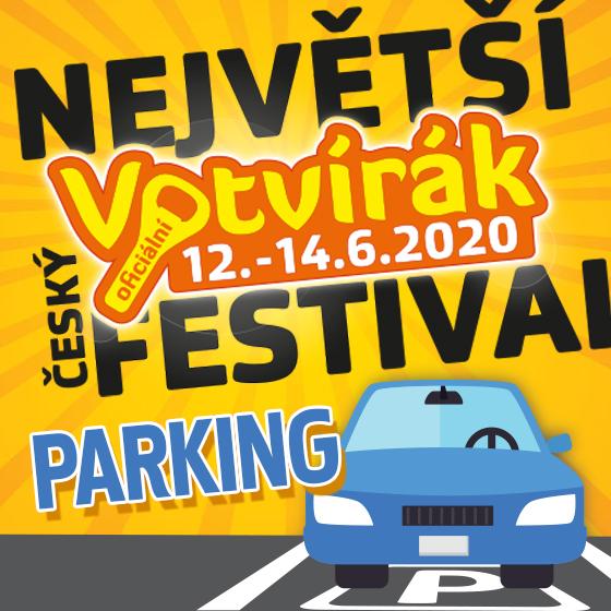 Festival Votvírák 2020<br><b><font color=red>Parkovné</font></b>