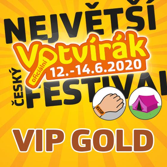 Festival Votvírák 2020<br><b><font color=red>Klubová karta VIP GOLD</font></b>