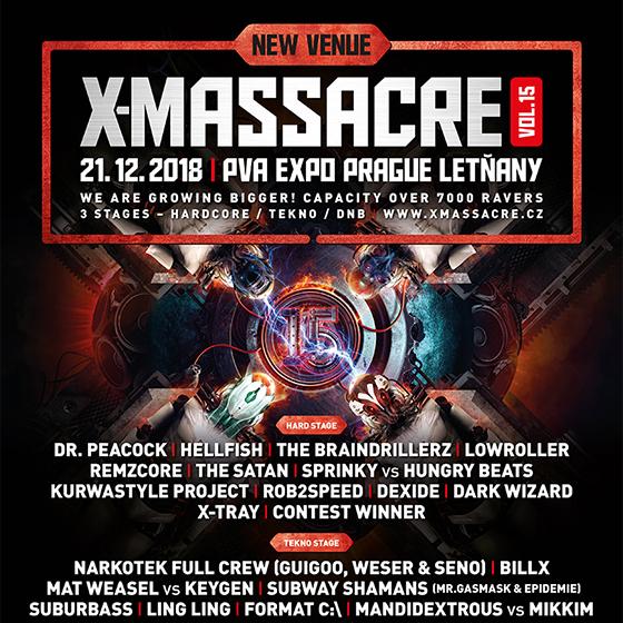 X-Massacre<BR>15th Anniversary<br><b><font color=red>VSTUPENKY BUDOU V PRODEJI I NA MÍSTE!</font></b>