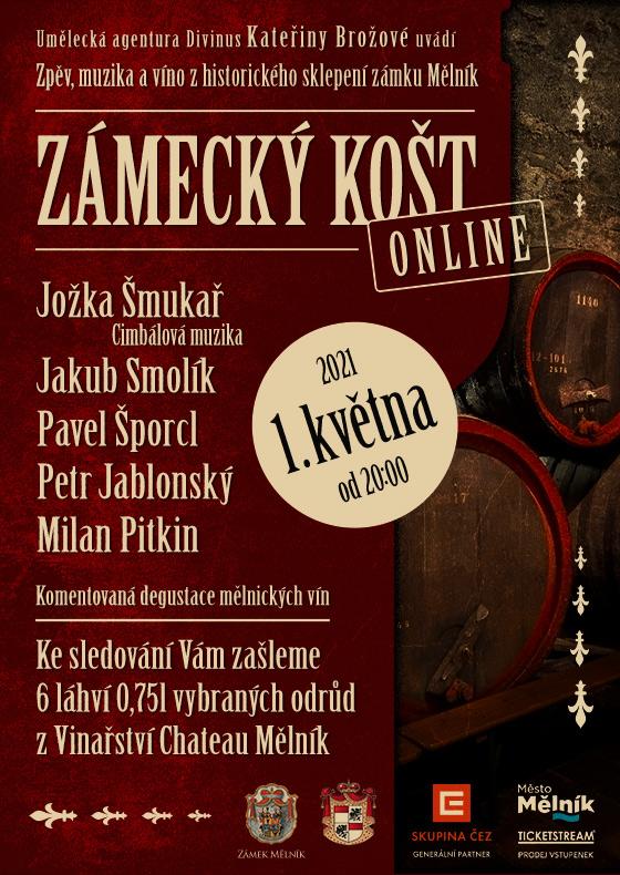 Zámecký košt<br>Zpěv, muzika a víno z historického sklepení zámku Mělník