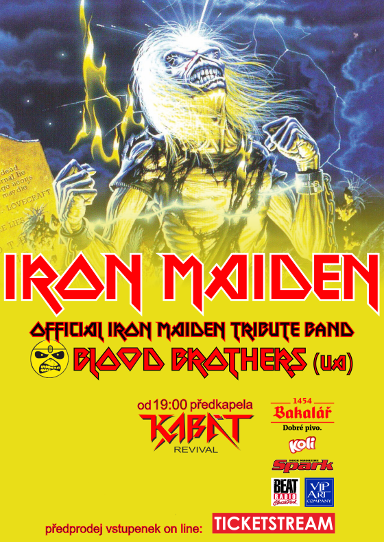Blood Brothers<br>Iron Maiden Tribute Band (UA)<br>Předkapela: KABÁT Revival