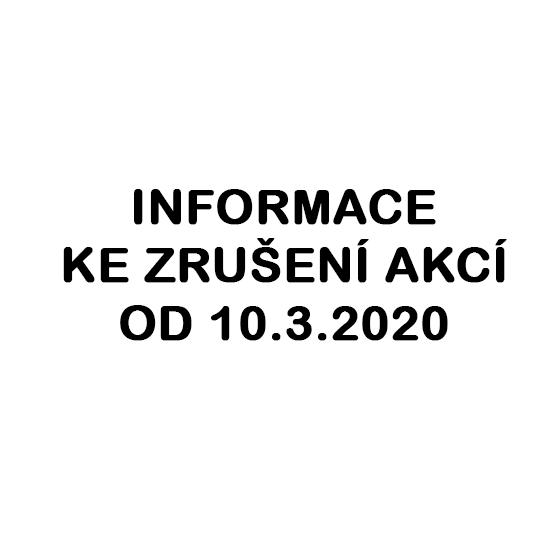 Mimořádná situace: zrušení akcí od 10.3.2020